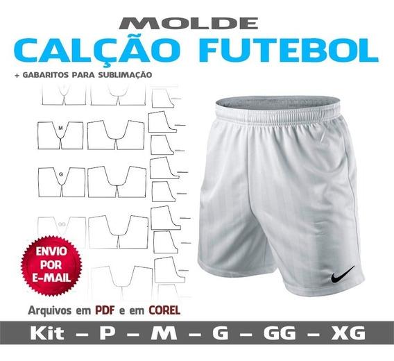 Molde Calção Para Futebol - Com Forro - Sublimação