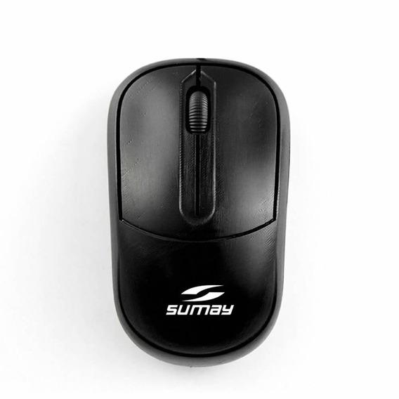 Mouse Óptico Com Fio Sumay 1308 Preto