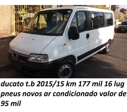 Imagem 1 de 15 de Fiat Ducato 2015/15 16 Lug T.b 177 Mil Km  Ar Condicionado
