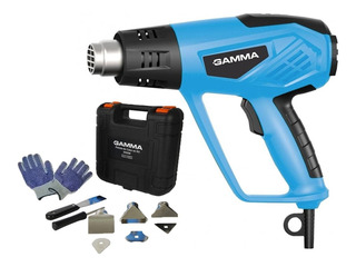Pistola De Calor Gamma Aire Caliente 2000w + 8 Accesorios + Maletin 12 Niveles Temperatura 2 Años Garantia