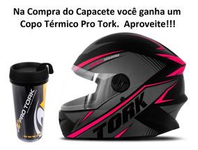 Capacete Moto New Liberty Four Pro Tork R8 Fechado Rosa