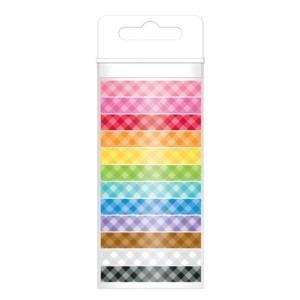 Washi Tape Colores Scrapbook Doodlebug Paquete C/12 Gingham