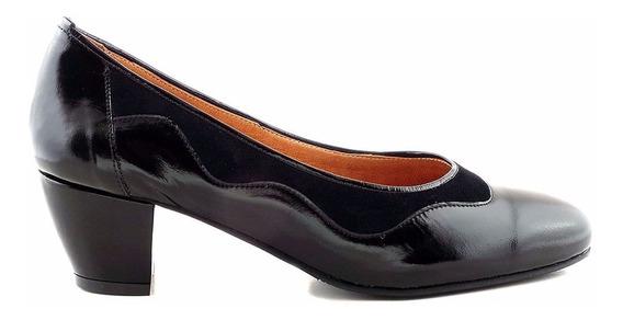 Zapato Cuero Mujer Briganti De Vestir Taco - Mccz03453 Cg