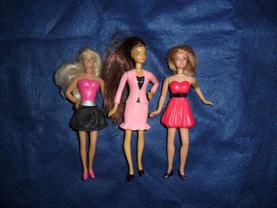 Mc Donalds - Barbie - Lote 3 Bonecas Pequenas