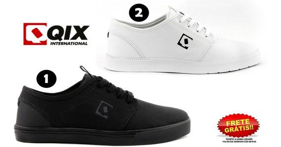 Tênis Qix Combat Iii Original Unissex Preto E Branco