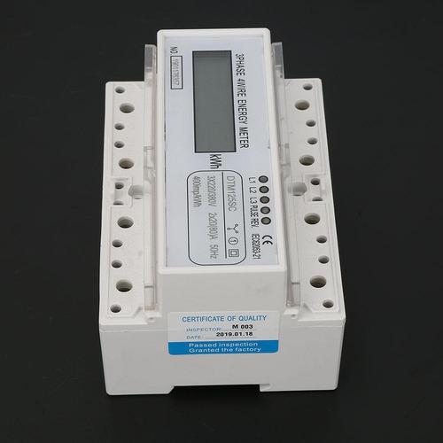 monof/ásico 2P LCD Din Rail Electricidad Consumo de energ/ía Watt/ímetro Medidor de energ/ía DDM35SD 15-60A Zerone Medidor de energ/ía