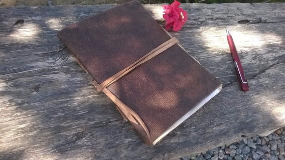 Sketchbook Old, Potter, Antigo, A5, Em Couro
