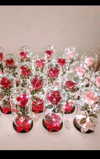 Rosa Eterna Rehidratada Con Luz Led Varios Colores