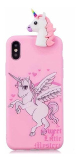 Funda De Silicona Para iPhone 6, 7, 8 Y Plus De Unicornio