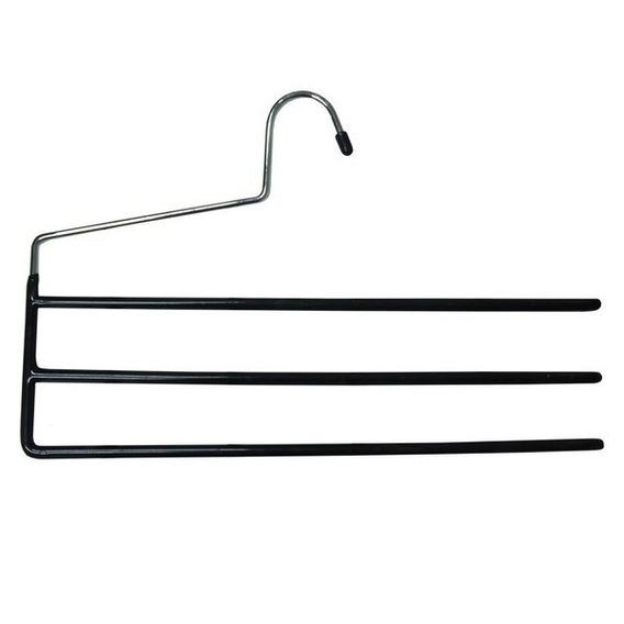 04 Cabides Metalfix Emborrachados Para Calças - Porta Calças