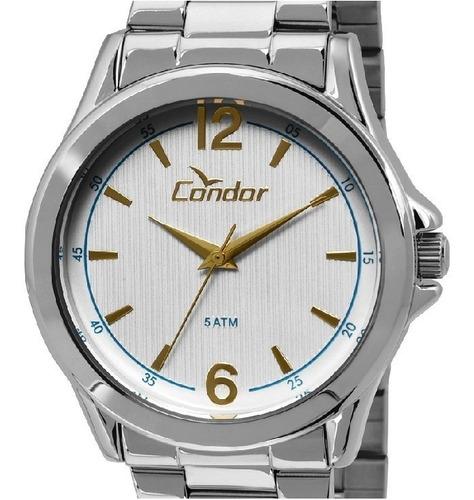 Relógio Condor Masculino Casual Prata Modelo Co2035kot/3k