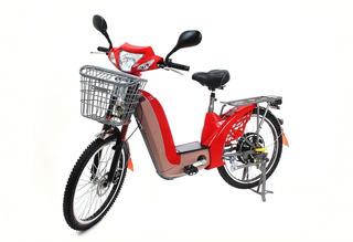Bicicleta Elétrica 350w Souza Bike Vermelha
