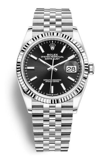 Rolex Datjust Ngrz33g58- Pulseira De Aço