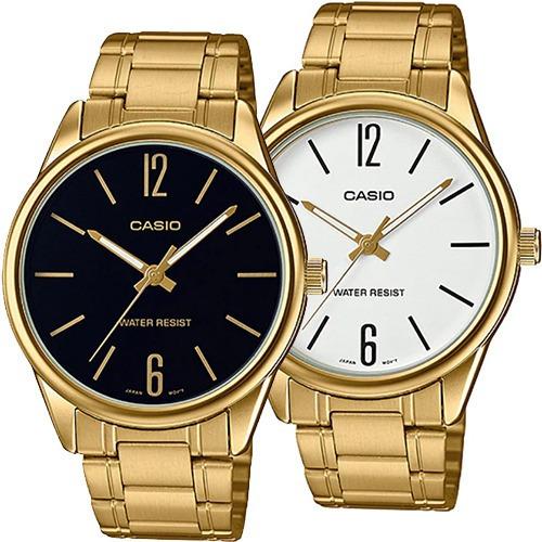 Reloj Casio Caballero Mtpv005 Acero Inoxidable Dorado Resistente Al Agua