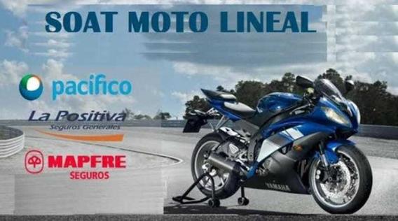 Venta De Soat Para Moto Lineal Activación Inmediata