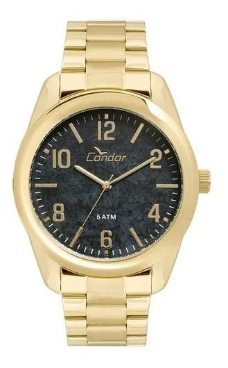 Relógio Dourado Feminino Condor Original Co2036kty/4p.
