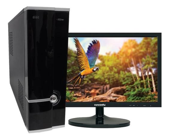 Computador Sff + Monitor 19.5 I3 6100 8gbddr4 Ssd 240gb
