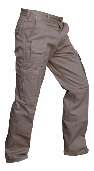 Pantalon Cargo Explora Reforzado Bolsillo Trabajo Gabardina