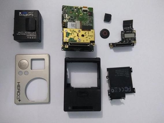 Gopro Hero 3+ Silver Placa Lente Slot Bateria Carcaça Cartão