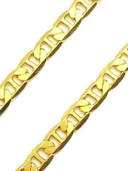 Corrente Cordão Masculino 60cm Banho De Ouro 18k 1242