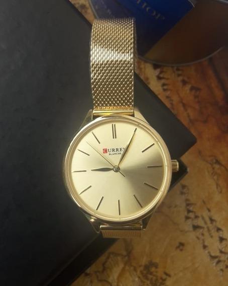 Relógio Feminino Dourado Curren Analógico