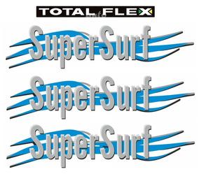Três Adesivos Supersurf + Flex - Saveiro G4 - 2006 À 2010
