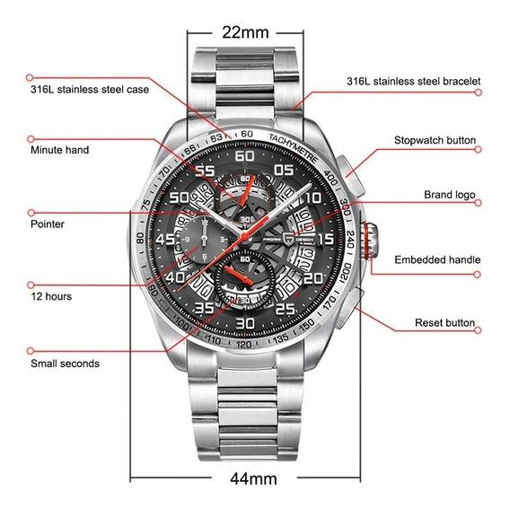 Relógio Masculino Pagani Design Date Aço Inoxidável 316l