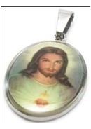 Lote De Medallas Religiosas De Acero Inoxidable