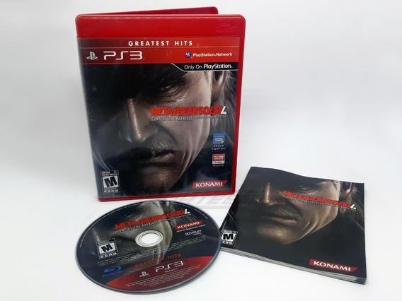 Metal Gear Solid 4 Guns Of The Patriots Ps3 Mídia Física Cd