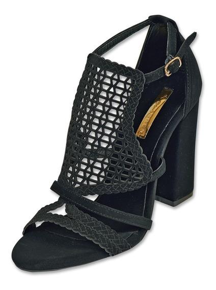 Calzado Dama Mujer Zapatilla Formal Tipo Gamuza Negro Comodo