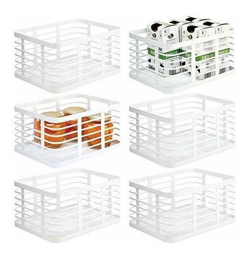 Mdesign Farmhouse Decor Organizador De Alimentos De Alambre