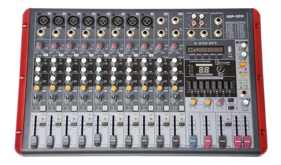Consola Potenciada 12 Canales Gxp-12ch Usb Ecua Gcmpro