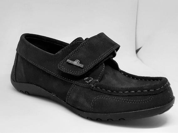 Zapato Náutico De Cuero Nobuk