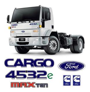 Kit Cargo 4532e Max Ton Cummins Emblema Adesivo Mod Original
