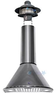 Campana De Cocina Acero Circular 60 Motor Exterior 1000 M3/h
