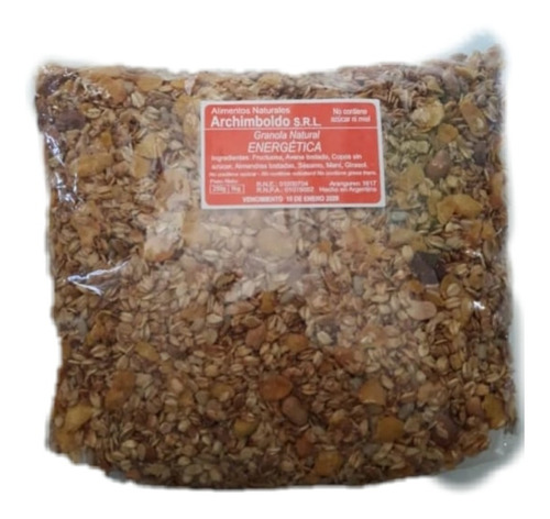 1 Kilo Granola Natural Energetica