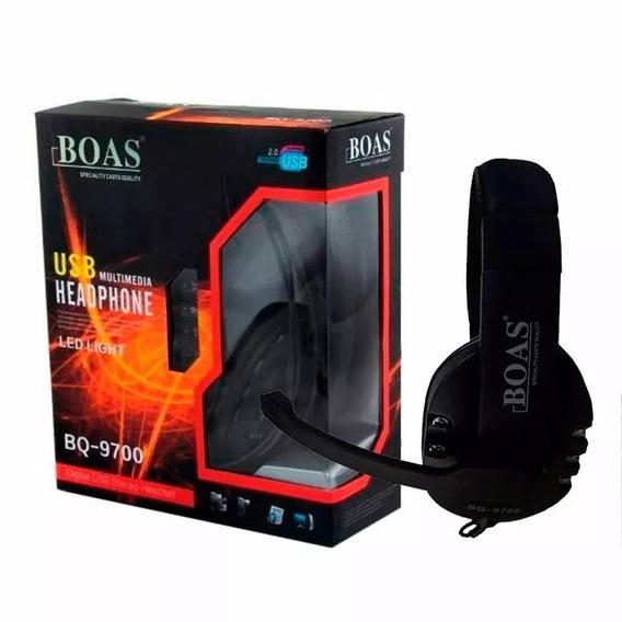Kit 15 Headphone Boas Usb Led Bq-9700 Headset Frete Grátis