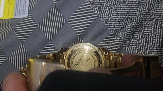 Relógio Invicta Original. Banhado A Ouro.