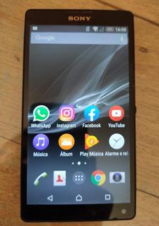 Celular Sony Xperia Zq P/ Aproveitar Peças, Leia Anúncio
