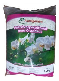 Sustrato Para Orquídeas, 500 Grs, Corteza De Pino Y Turba