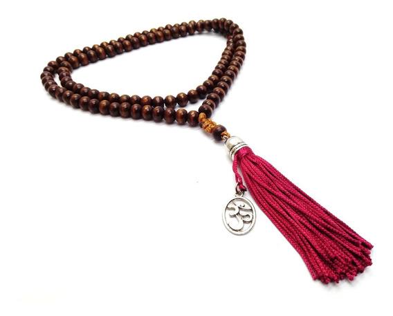 Japamala Budista Ho´oponopono 108 Contas Madeira 8 Mm Terço