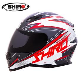 Capacete Shiro Sh881 Atlanta Preto/branco/vermelho