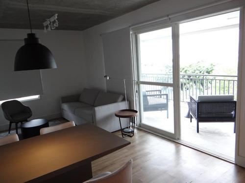 Imagem 1 de 23 de Lindo Apartamento, 61m2, 01 Dormitorio Com Suite E Lavabo, Sacada Envidracada, Vista Para Ponte Estaiada. Totalmente Mobiliado Com Cama, Eletodomestic - Ap15256