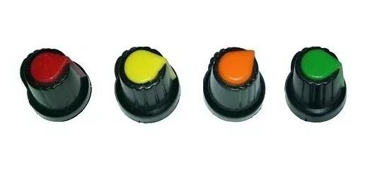 36x Knobs Para Potenciômetro Estriado Botão Liga