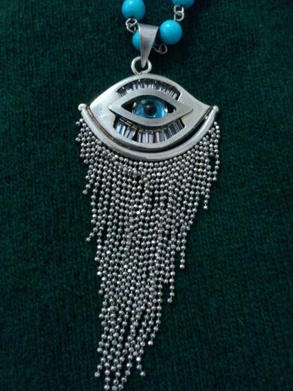 Colar De Prata Egipcia 925c