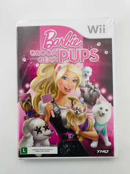Jogo Wii Barbie Groom And Glam Pups