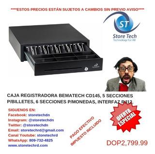 Caja Registradora Bematech Cd145, 5 Secciones Pbilletes, 6 S