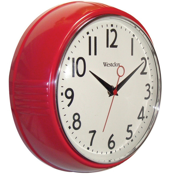 Reloj Westclox 32042r Retro 1950 Kitchen Wall Clock, 9.5-inc