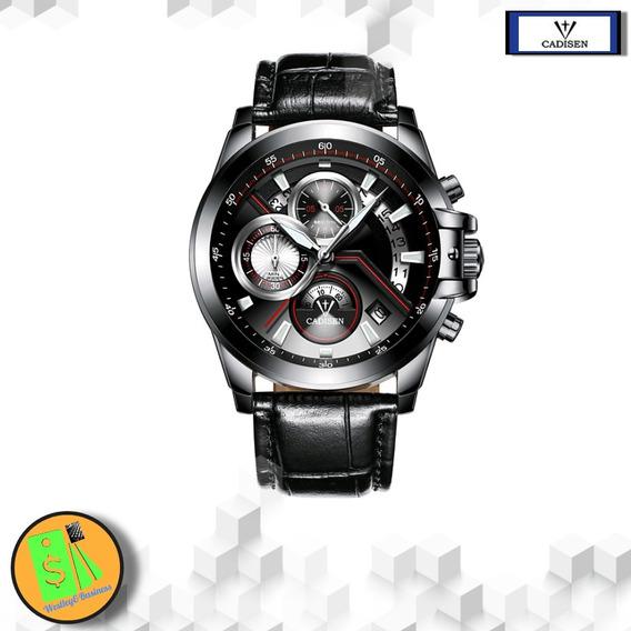 Relógio Esportivo Masculino Impermeável Pulseira Couro