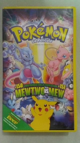 Vhs Pokémon Filme-mewtwo Vs.mew/fita Amarela-importado-2000